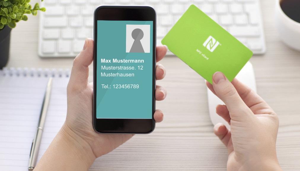 Nfc Visitenkarte Werbeartikel Für Datenübertragung Trend